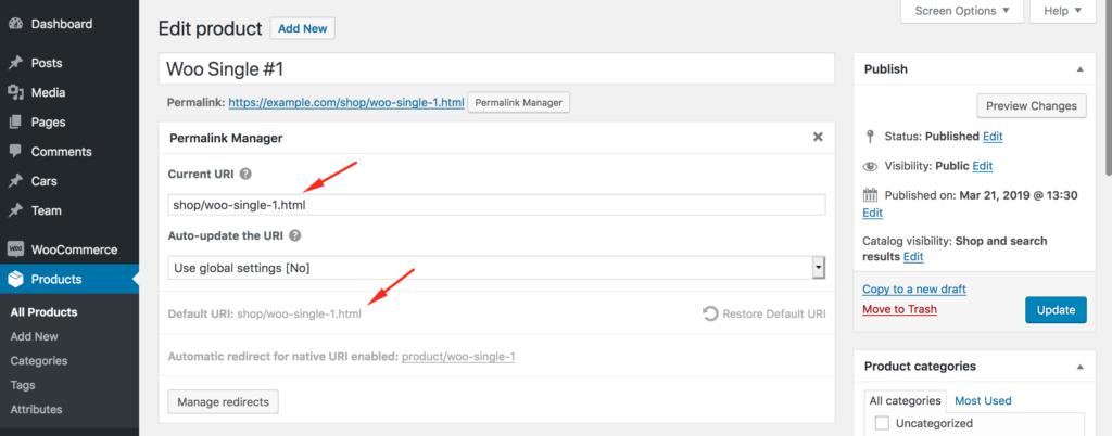 Regenerate WordPress permalinks
