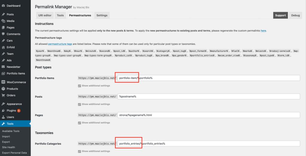 Remove permalink base (slug) from WordPress permalinks